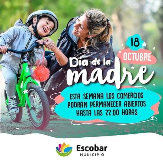 Escobar promueve las compras en comercios locales por el Día de la Madre