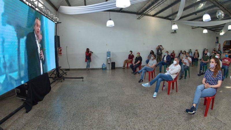 Zabaleta compartió junto a dirigentes del peronismo de Hurlingham el acto del Día de la Lealtad encabezado por Alberto Fernández