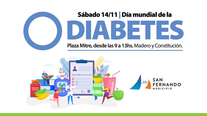 """Este sábado, San Fernando realizará una jornada por el """"Día Mundial de la Diabetes"""" en Plaza Mitre"""