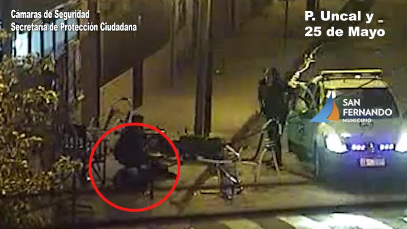 Protección Ciudadana de San Fernando detuvo a dos motociclistas armados luego de una persecución
