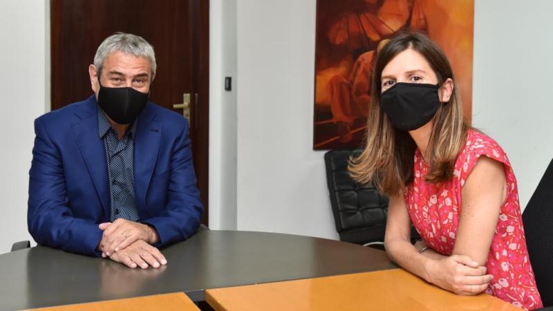 Encuentro de trabajo entre Fernanda Raverta y Jorge Ferraresi