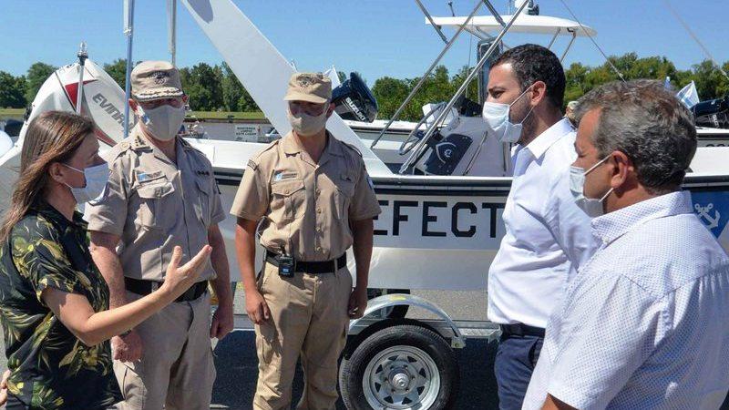 El Municipio acompañó a la Ministra Frederic en la presentación de nuevas embarcaciones para la Prefectura de San Fernando