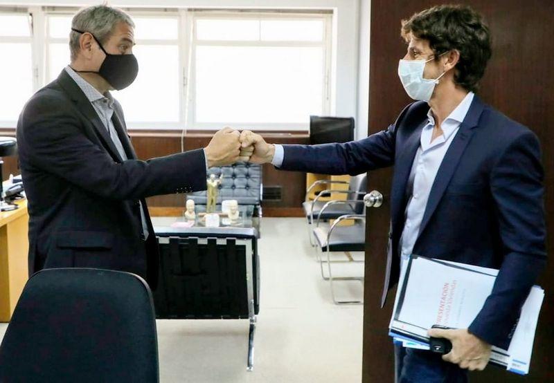 Juan Andreotti adhirió a San Fernando al programa 'Casa Propia' y el Fondo Solidario de Vivienda