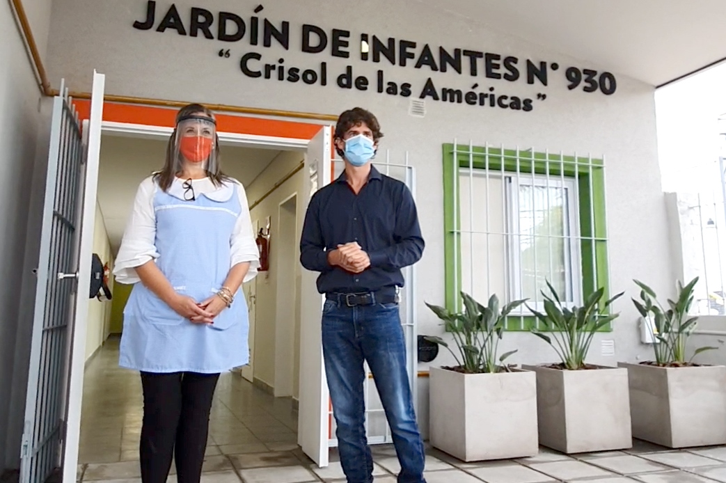 Juan Andreotti inauguró el renovado Jardín Nº930 del barrio Crisol