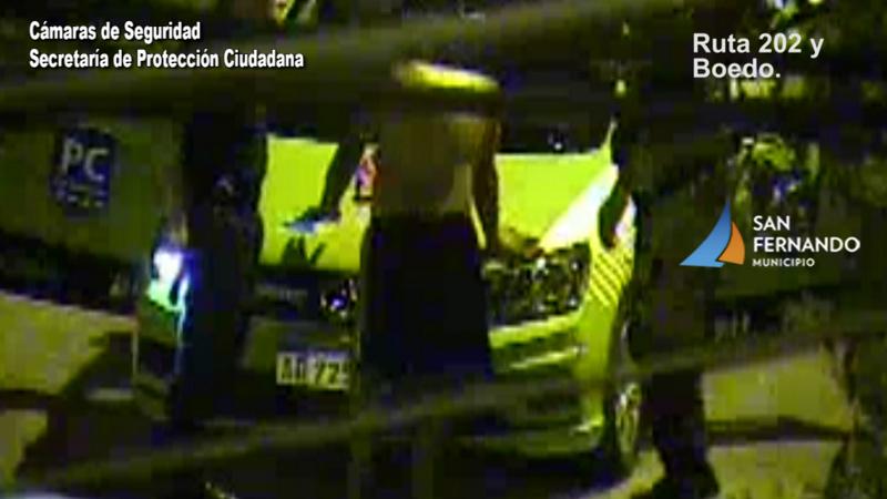 Las cámaras de San Fernando permitieron detener a un hombre que robó una motocicleta