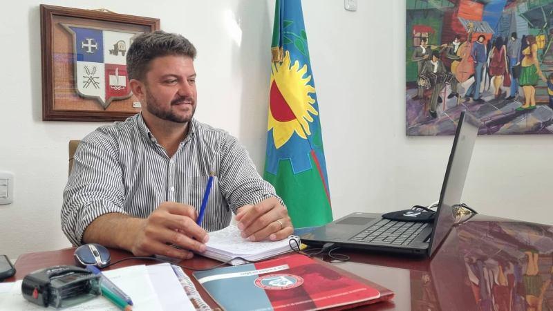 Diego Nanni, participó de la reunión por ZOOM de intendentes, con el Gobernador  Axel Kicillof