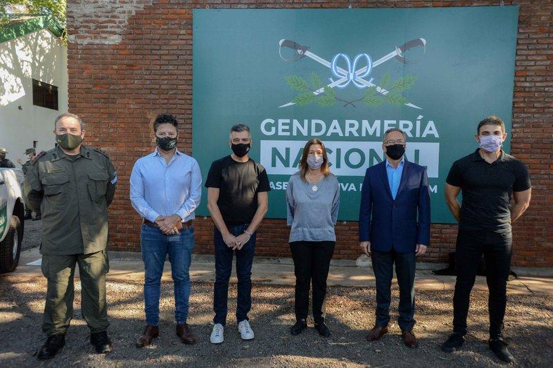 Zabaleta y Frederic inauguraron una base operativa de Gendarmería en Hurlingham y firmaron un convenio para crear el Observatorio de Seguridad