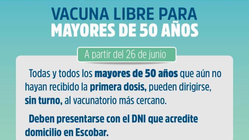 Vacunación Libre para Mayores de 50 Años
