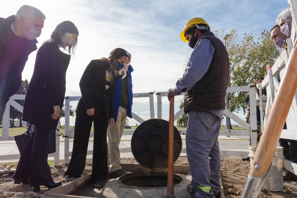 Malena Galmarini inauguró el aliviador cloacal Roca que beneficiará a 20.000 vecinos y vecinas de Vicente López