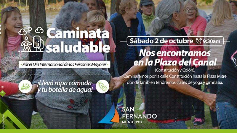 San Fernando celebrará el Día de las Personas Mayores con una caminata y clases gratuitas