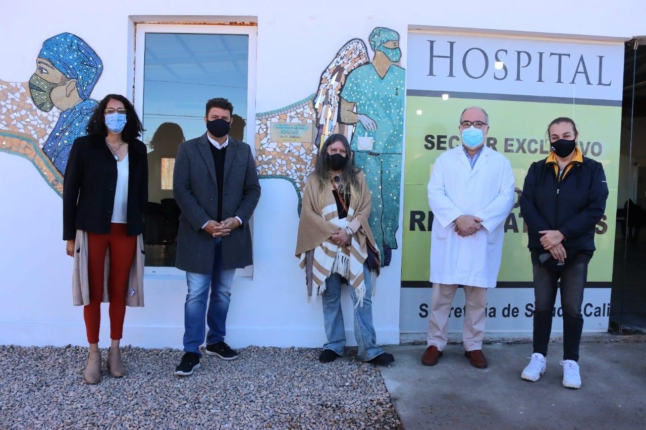 Exaltación, Mural en el Hospital San José