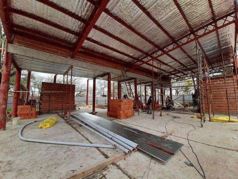 """La Municipalidad de Escobar avanza con la construcción del nuevo Centro de Atención Primaria para la Salud """"Juana Azurduy"""" del barrio Lambertuchi"""