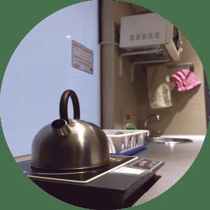 tea kettle at acyh barcelona kitchen