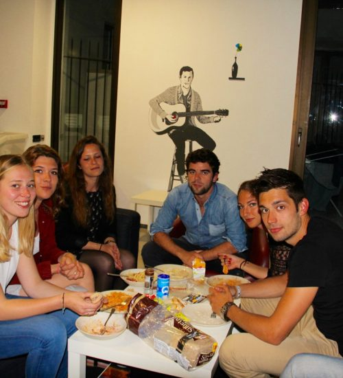 friends eating food at acyh- photo album