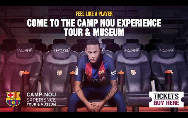 camp nou experience flyer