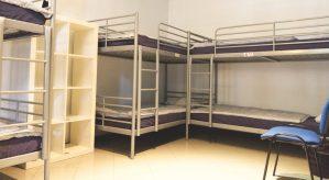 bunk beds in dormitory room