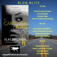 B l o g t o u r  & #Review of CARPENTER ROAD by #author  N.M. Brown #AltRead @normthewriter  @bloodhoundbook  #NetGalley