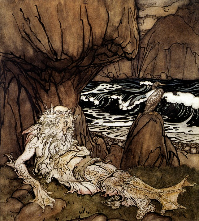 A_Crowned_Merman by Arthur_Rackham - A Merman's Choice Guest Post with Alice Renaud