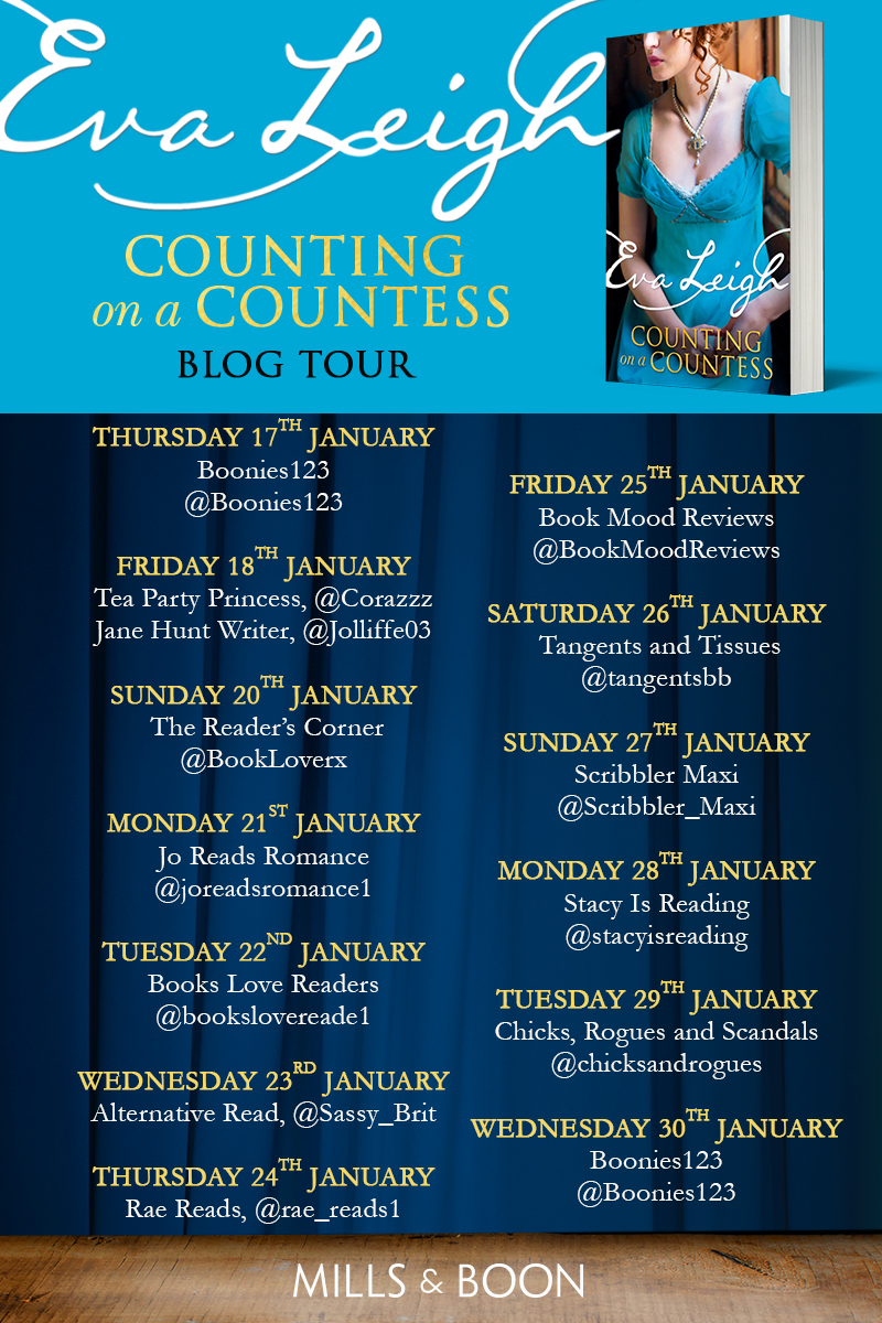 Counting on a Countess Blog Tour Dates Final