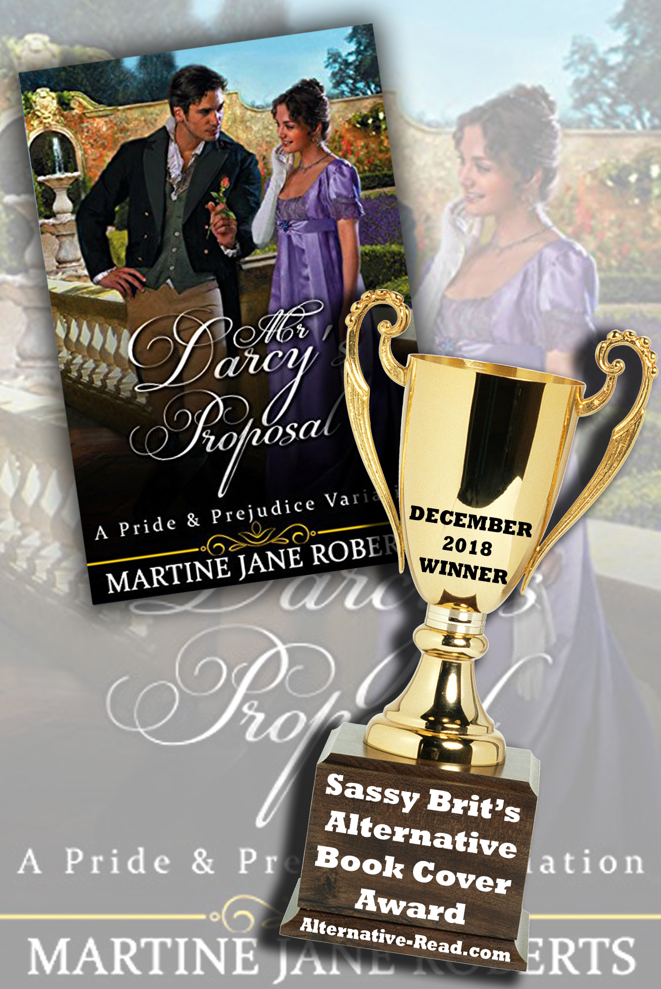With her father's consent, Fitzwilliam Darcy proposes to Elizabeth Bennet, but she is adamant in her refusal. Yet during his daily visits, as he slowly reveals his softer side, Elizabeth's feelings begin to change. But then George Wickham appears, and with a secret accomplice threatens to destroy everything, including them!. ~ The DEC 2018 Alternative Book Cover Award Winner!