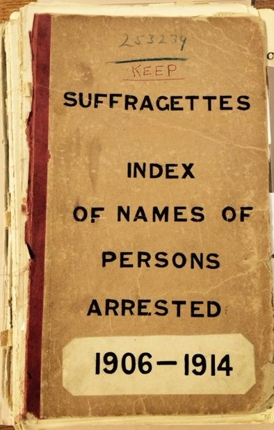 Uknown Entries on Home Office List of Suffragettes arrested 1906-1914