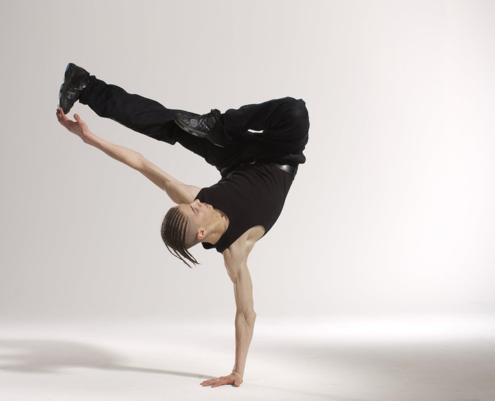 acrobat action active adult