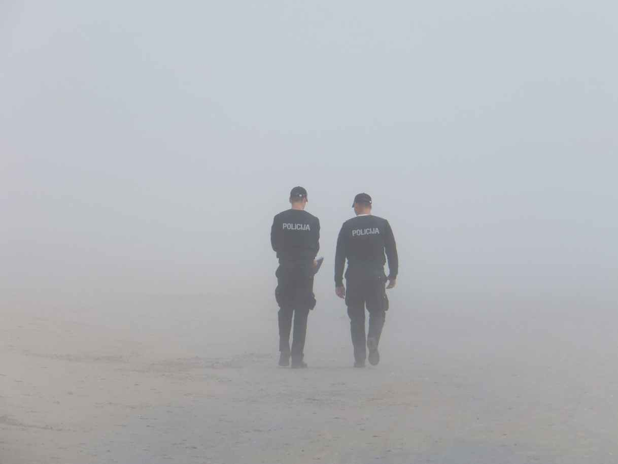 fog police seaside