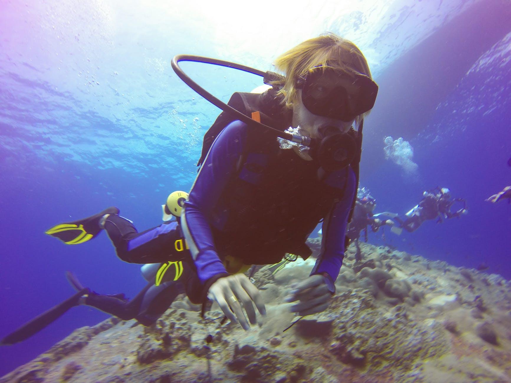 diver under the sea