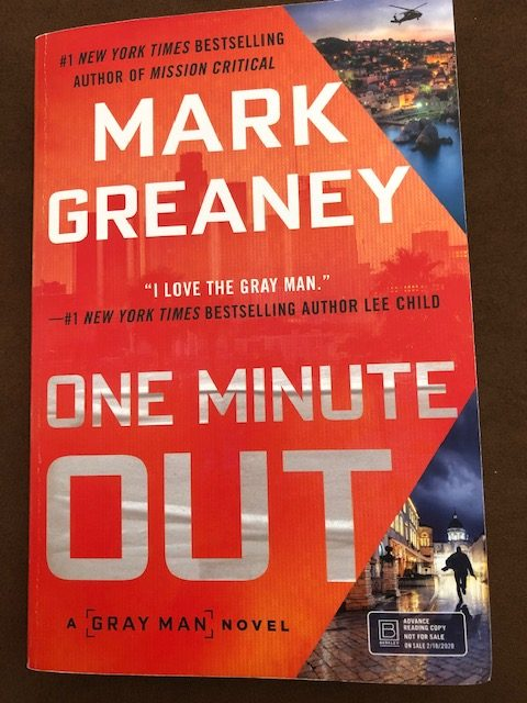One Minute Out by Mark Greaney - Cover