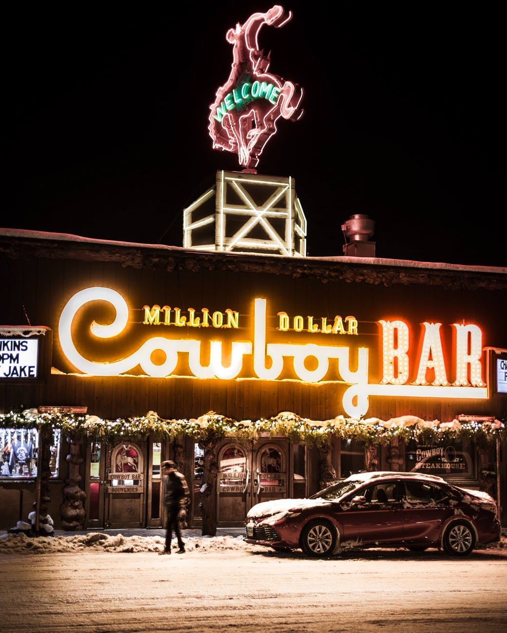 photo of cowboy bar signage
