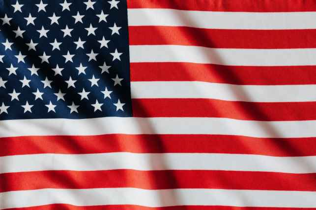 flattering flag of united states of america