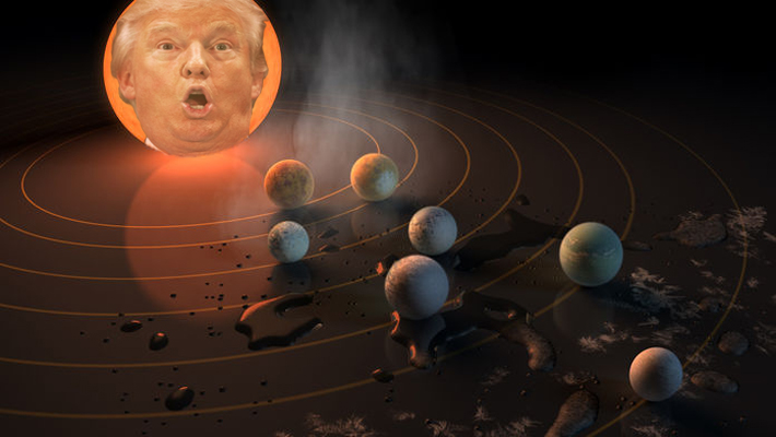 Trump Orders NASA To Verify Planets Discovered By TESS Also Revolve Around Him
