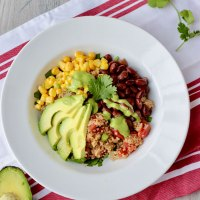 Mexican Quinoa Bowl with Cilantro-Lime Dressing