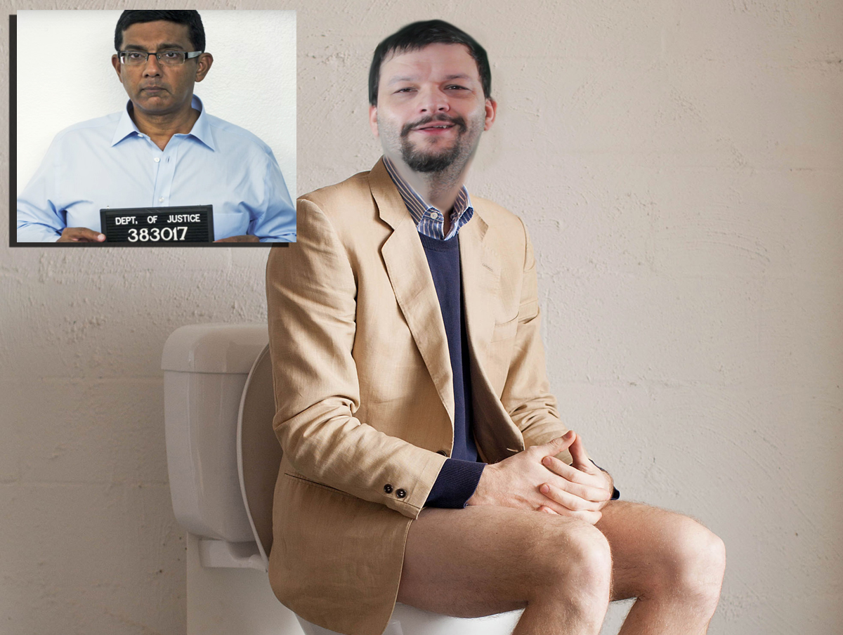 Man Who Thinks He Just Took Excruciatingly Large Dump Surprised By Dinesh D'Souza In His Toilet Bowl
