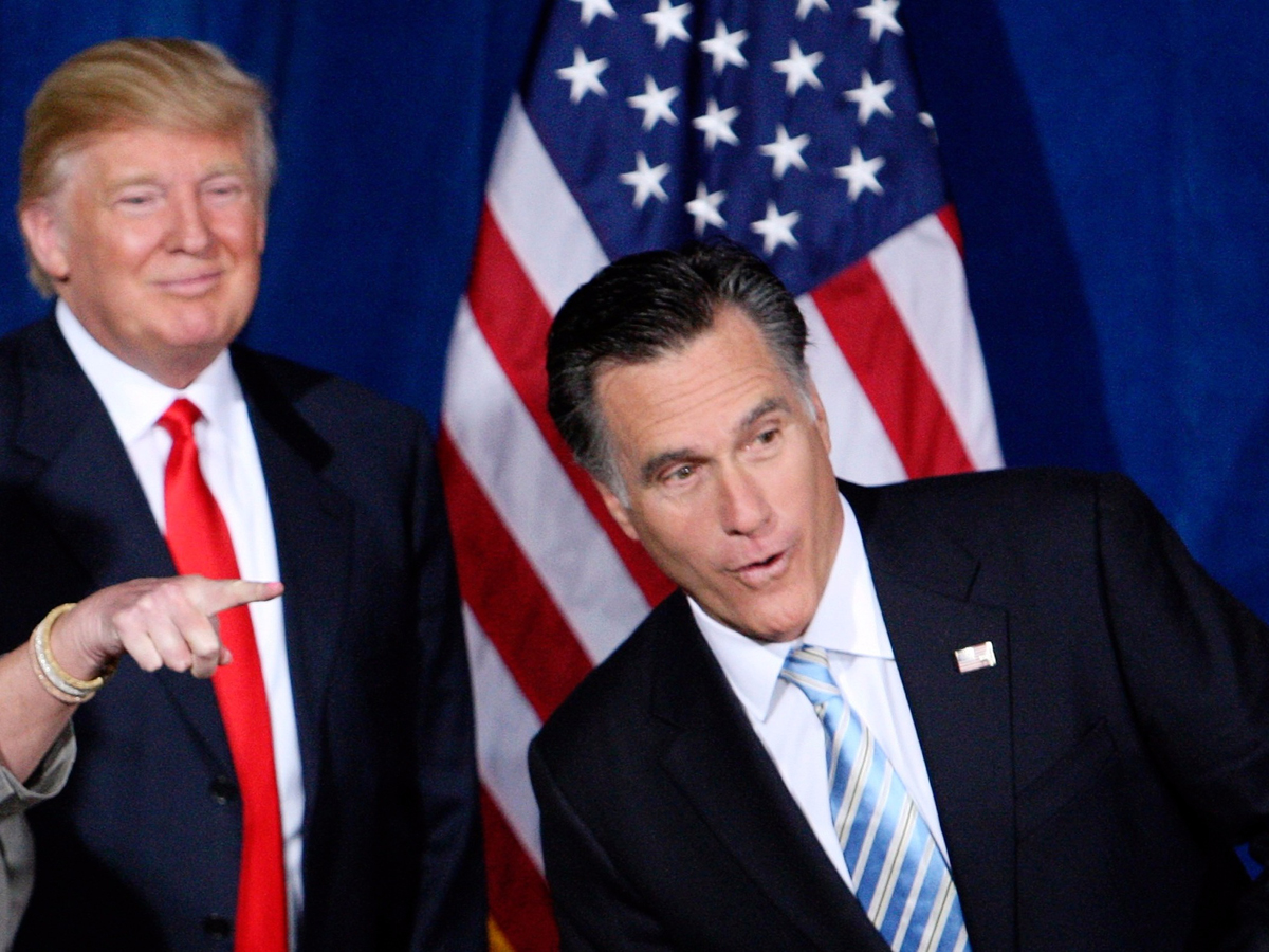 Trump Offers To Grab Mitt Romney's Binders By The Pussy