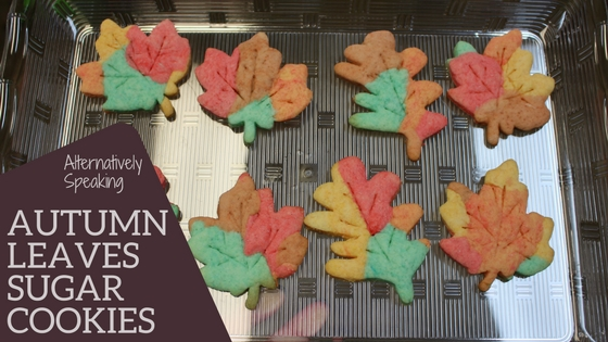 leaves, autumn leaves, fall colours, sugar cookies, cookies
