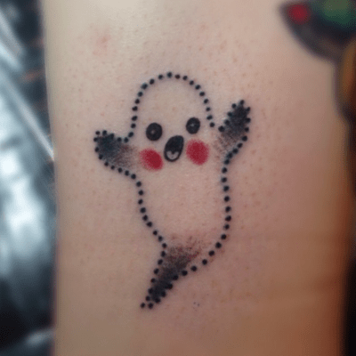 tattoos, tattoo, Halloween tattoos, Halloween tattoo, ghost tattoo