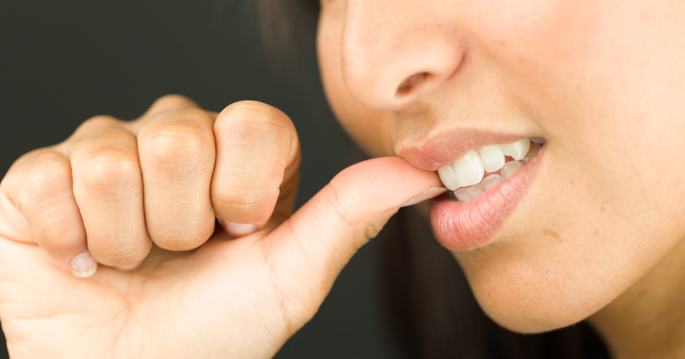 how to stop biting nails men