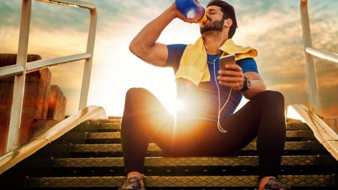 Athlete recharging