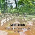 Meditation - Peace of Mind Brings Health to Life
