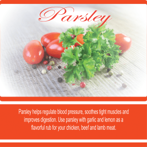 Parsley The World's Most Popular Herb