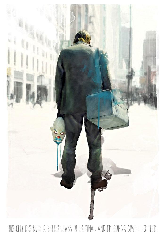 Alternative Movie Poster For The Dark Knight By Mark Schilder