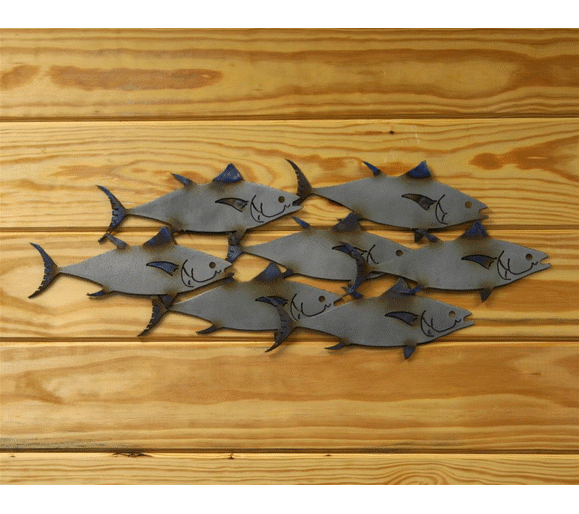 ornamental school of fish