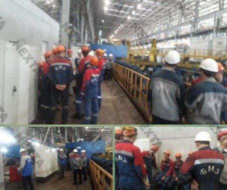 Travailleurs en grève chez BMZ