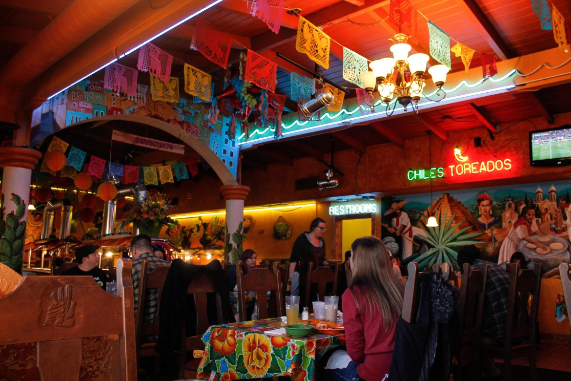 Inside Mi Ranchito, one of the most vegan-friendly restaurants in SLC
