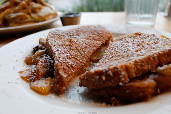 Vertical diner french toast