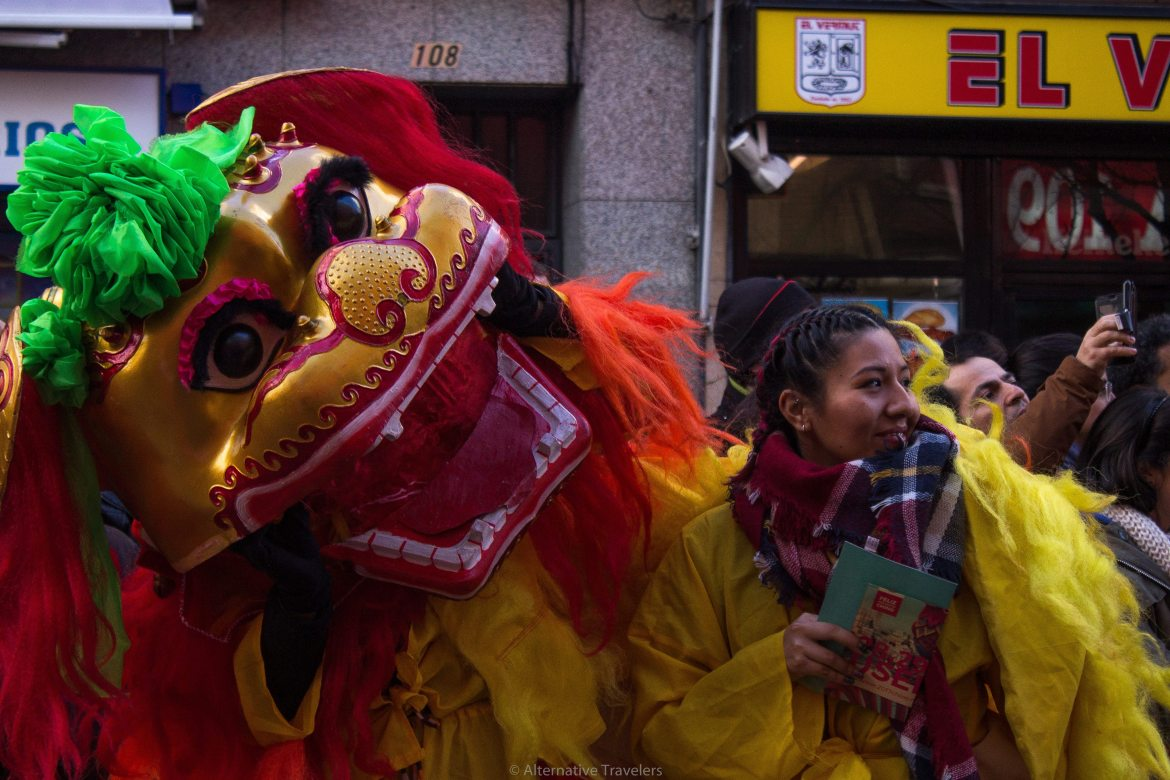 Chinese New Year Parade in Madrid, Spain