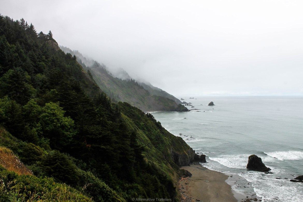 Misty Mountains on the Pacific Ocean in California
