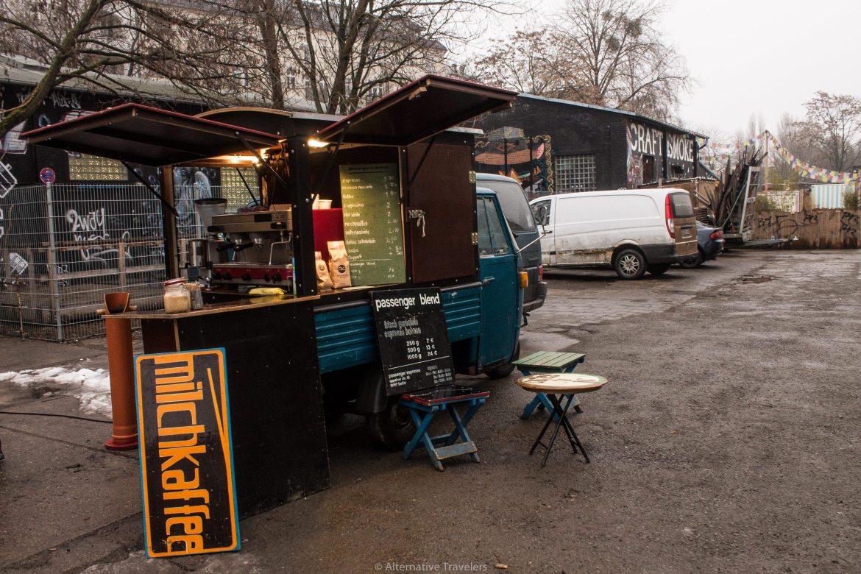 Berlin coffee cart at RAW Gelande | AlternativeTravelers.com