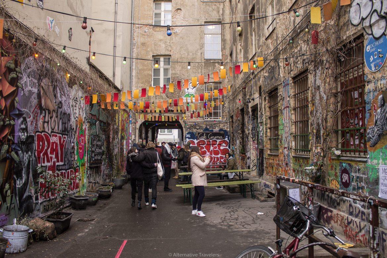 Dead Chicken Alley fulled with street art in Berlin | AlternativeTravelers.com